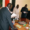 Unity State Ministers taking their Oath on April 27.