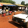 Small shops in South Sudan's Yei, April 7.