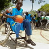 Gatluak Kual, Chairperson of the South Sudan Wheelchair Basketball Association (SSWBA), before a game in Juba May 26, 2012. Kual lost his leg in 1999 during the civil war.