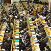 Parliamentarians of the Republic of South Sudan during a sitting of the National Assembly in Juba, June 19.