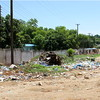 A street in South Sudan's capital Juba in June 2011, filled with trash.