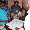 Women discussing the Constitution during a workshop in Wau held in June.
