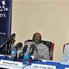 L-R: Martti Ahtisaari, Desmond Tutu and Mary Robinson on July 6, in Juba.
