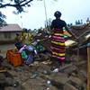 Mary Ladu is stranded after rain destroyed her house.