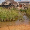 A flooded homestead in South Sudan's Northern Bahr el Ghazal State, September 2012.