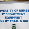 A signpost for the IT department of the university in Rumbek.