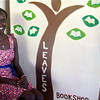 """The love for reading and burden of carrying books on journeys forced me to open a bookshop in South Sudan,"" says Awak Bior in her Leaves Bookshop in Juba, October 27."