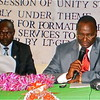 Governor Taban Deng (right) and the speaker of Unity State Legislative Assembly, Simon Maguek Gai, October 27, 2012.