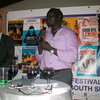 Undersecretary in the Ministry of Youth, Sports and Culture, Jok Madut Jok, and the EU Head of Delegation, Sven Kühn von Burgsdorff, open the European Film Festival 2012 in Juba, November 22.