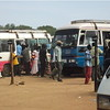 Passengers are boarding a Matatu (local mini bus) at Juba's Custom bus park, November 27.