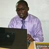 Badru Mulumba, Co-Director of the weekly 'New Times' in his office, December 4.