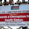 South Sudanese rally against corruption in their country, December 2012.