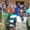 A group of LRA fighters and abducted children that defected in 2009.