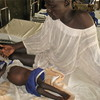 Meen Achiek, father of a malnourished child at Rumbek State Hospital in September.