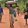 Displaced people from Southern Kordofan on their way to Yida refugee camp, July 2012.