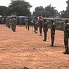 Security forces during a public function in Yei.