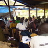 Mugwo citizens attending an outreach meeting conducted by the Sudan People's Liberation Movement (SPLM), February 20.