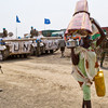 Civilians seeking refuge at the base of the UN Mission in South Sudan (UNMISS) in Pibor on the morning of March 6.