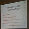 A slide of a presentation about the ambitious project, during one of the committees meetings, April 19.