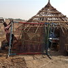 A house in Kuerlonga, Bentiu, with its roof removed, April 24.