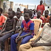 Underage boys living in an army camp in Bentiu, May 6.