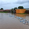 Waste carried by the floods from Juba town into Thong Ping, one of the residential areas in Juba, May 9.