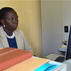 Poni Selina El Jayi, responsible for administration and human resources with UMCOR in Yei, May 13.