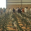 State authorities receive the ox-ploughs and other cultivation tools, to be distributed to model farmers, from the World Food Programme (WFP), May 14.