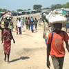 Civilians fleeing violence in South Sudan's Jonglei State.