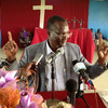 Taban Deng Gai, the former Governor of Unity State, during a national prayer in Bentiu's Presbyterian Church on Monday, July 8.