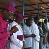 Religious and political leaders in Yei attend the prayer, July 8.
