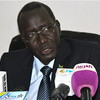 Stephen Dhieu Dau, South Sudan's former Minister of Mining and Petroleum speaks to journalist in Juba, July 23.