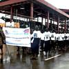 War widows and orphans march to mark the 8th anniversary of Martyrs Day in Juba on July 30.