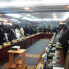 The new cabinet is sworn in at the State House in Juba, August 7.