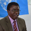 Chaloka Beyani, UN Special Rapporteur on IDPs rights, in Juba, November 14.