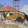 A building at Jebel residential area in Juba destroyed during the fighting on Monday, December 16.