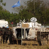 UNMISS soldiers guarding Bor airport in Jonglei State, December 28, 2013.