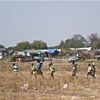 Civilians fleeing violence in Jonglei State's Pibor County.