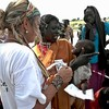 MSF staff member providing assistance to refugees in South Sudan.