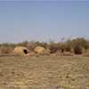 Deserted shelters in Jonglei State's Pibor County.