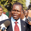 Western Equatoria State Governor Bangasi Joseph Bakosoro addressing the press in Yambio, January 19.