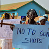 Women of Christian faith in Yei demonstrate for peace in South Sudan, April 2015.
