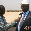 Anthony Lino Makana, South Sudan's Minister for Transport and Roads, at Juba International Airport.