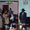 Pagan Amum was sworn in as SPLM Secretary General, on Tuesday, June 23, at 6:00 PM. (photo: The Niles | Deng Machol Monyrach)