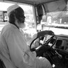 Kamal Osman Abdul Wahab driving his bus.