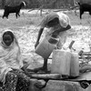 Girls fetching water in Sudan's Kordofan region, Sept. 26, 2012.
