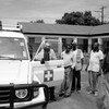 An ambulance is handed over to the county authorities in Yei, May 11, 2006. (photo: The Niles | Nik Lehnert)