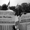 Civil Society Alliance members protesting corruption in South Sudan's capital Juba, June 2012.