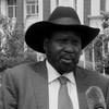 South Sudan's President Salva Kiir briefing the press in Juba, July 14, 2016.