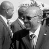 Sudan President Omar al-Bashir upon arrival in Juba on June 1, 2014. (photo: The Niles | Waakhe Simon Wudu)